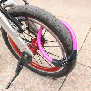 Bike Bicycle Code Locker 4 Digits Password Code Cable Secure  Security