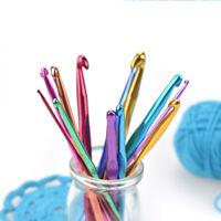 1PC Aluminum Crochet Hook Size 2-10mm DIY Craft Knitting Sewing Yarn Needles
