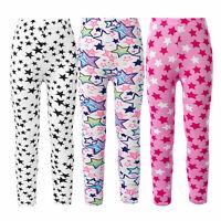Kid Girls Milk Fiber Textile Leggings Pants Star Print Elastic Stretchy Trousers