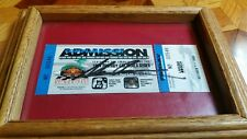 Mario Andretti Signed Indy Car Race Ticket Vintage 1994 Autographed and Framed