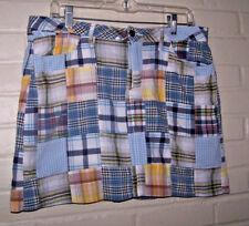 Faded Glory Skort madras style size 10 with pockets euc