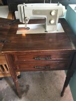 Sears Kenmore 5186 Heavy Duty Sewing Machine Electric in Cabinet Works