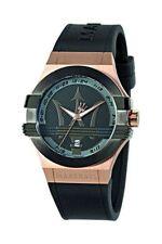 Relojes de pulsera Classic de acero inoxidable de goma