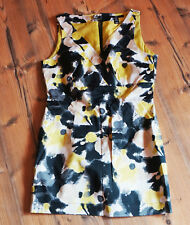 Minikleid Mini Kleid Top gelb schwarz von H&M