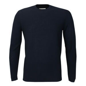 Folk - Pique Navy Crew Neck Jumper - Size 4 / L - *NEW WITH TAGS* RRP £135