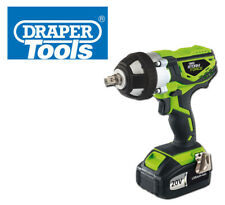 """DRAPER STORM FORCE CORDLESS IMPACT WRENCH 1/2"""" 20V 400NM TORQUE FAST CHARGE CAR"""