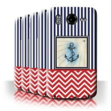 STUFF4 Back Case/Cover/Skin for HTC Desire HD/G10/Nautical Marine Chevron