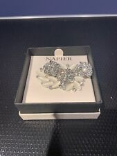Napier Pin Broach With Pearls & Crystals  NEW