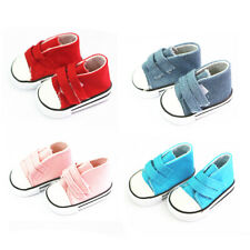 """4pcs casual Canva Shoes Sneakers for 18"""" AG American Doll Doll Clothes Princess"""