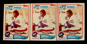 WOW LOT OF 3 1982 TOPPS LAWRENCE TAYLOR #434 ROOKIE CARD RC NM OR BETTER HOF