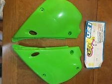 KAWASAKI KX80 KX 80 1991 92 93 94 95 96 97 Side Panels SET OEM GREEN! NEW!