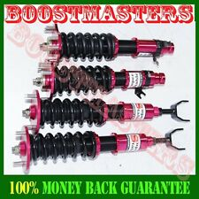 92-01 Honda Prelude Full Coilover Suspension Lowering Kits Non Damper RED
