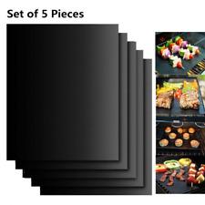 Set de 5 Tapis de Cuisson Tapis BBQ Barbecue Plaque Feuille de Cuisson 40x33cm