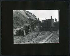 1919 FRANKLIN MOTOR CAR~SAN FRANCISCO ROAD EXCAVATING CREW&MACHINERY~PHOTO PRINT
