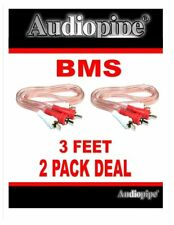 RCA 3FT Cable Audiopipe X 2 Pack Stereo Patch Cables Car Audio and Home