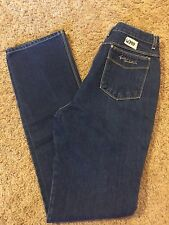 Women's VGUC GLORIA VANDERBILT Sz 13 XT Dark Blue High Rise Straight Leg Jeans