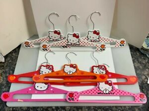 Hello Kitty Wood Clothes Coat Hangers White Red Pink Orange 8 Pack Sanrio 2012