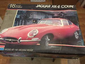 Vintage Monogram Jaguar XKE  Coupe 1/8 Scale Plastic Model Kit