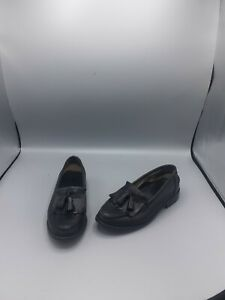 Size UK 5 EU 38 Russell & Bromley R&B Black Leather 'Chester' Tassel Loafers