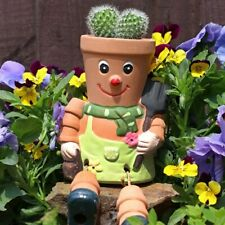 Terracotta Pot Man Planter - Hanging Garden Ornament - Gardening Gift