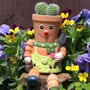 Terracotta Pot Man Planter - Hanging Garden Ornament - Gardening Gift