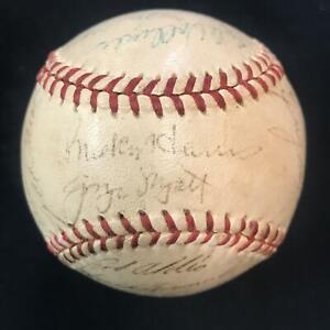 1954 Washington Senators Auto Autograph x 27 BUCKY HARRIS Sweet Spot *FCJ