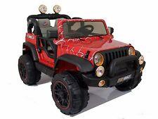 Auto Elettrica Per Bambini Telecomando Jeep Radiocomandata 2 Posti 12v spiderweb