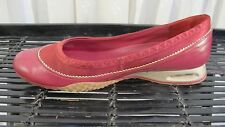 Cole Haan maroon maroon and silver Nike Air ballet flats size 9 1/2 B