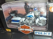 Toy Maisto 1:18 Harley Davidson Boston  Police dept Motorcycle series 4