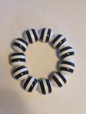 Lucite Stretch Black White Bracelet