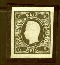 [Portugal 1866/1867 – King Luiz Curved Label] 5 Reis value imperforated