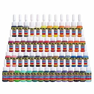 Skin Candy Tattoo Ink Set 54 Pack Primary Color Pigment Professional Supply Kit