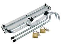 Universal Roof Rack Pair Of Ladder Van Clamps Lockable Secure & Padlocks
