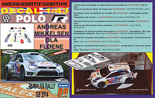 ANEXO DECAL 1/43 VOLKSWAGEN POLO R WRC A.MIKKELSEN WALES RALL GB 2014 DnF (12)