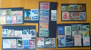 FINE CHIEFLY FRANCE GERMANY ITALY MINT AVIATION POSTER STAMP COLLECTION (51)