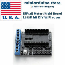 Motor shield L293D DIY robot for NodeMCU ESP-12E ESP8266 WiFi LUA CP2102 V2 USA