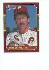 MIKE SCHMIDT 1987 Donruss Opening Day card #160 Philadelphia Phillies NR MT
