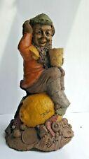 "Nice Vintage Tom Clark Gnome ""Lem"" 1191, #33 Signed ~ Gnome sitting on Lemon"