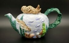 Exquisite Ceramic Teapot By Takahashi San Francisco Otters Underwater Scene