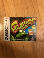 Frogger (Nintendo Game Boy Color, 1998) Instruction Booklet ONLY