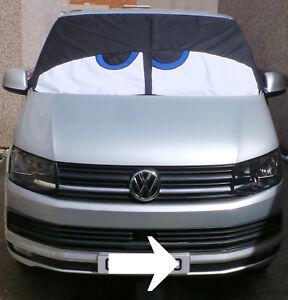 VW T5 / T6 original Bus Eyes screen cover / wrap Happy Buseyes blind Black