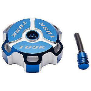 Tusk Billet Aluminum Gas Tank Fuel Cap Petrol Blue Arctic Cat DVX 400 KLX125 KLX