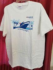 Carnival Cruise Line...cruise ships...Souvenir  T-shirt  Let the fun begin
