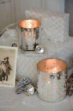 Windlicht 2erset Bauernsilber Welcome Kerzenleuchter Weihnachten Xmas Shabby