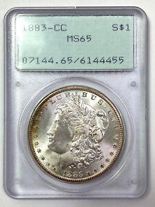 1883-CC  Morgan Silver Dollar - PCGS MS 65 - VINTAGE GREEN RATTLER