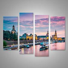 Dresden am Abend Bild auf Leinwand BLM-4erP