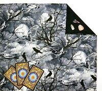 "Raven Sky Tarot Cloth or Altar Cloth Fully Lined 18"" x 20"" Runes SPClo"