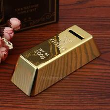 Gold Bar Bullion Piggy Bank Brick Coin Bank Saving Money Box Kids Novelty Gift