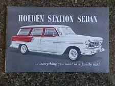 HOLDEN 1958 FC STATION SEDAN SALES BROCHURE.''RARE'' 100% GUARANTEE