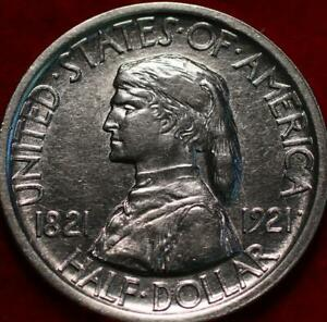 Uncirculated 1921 Philadelphia Mint Missouri Silver Comm Half